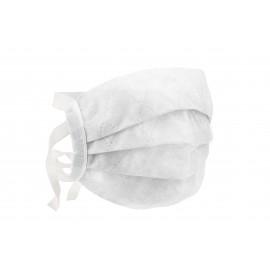 Maseczka wielorazowa biała 90 gr - troczki
