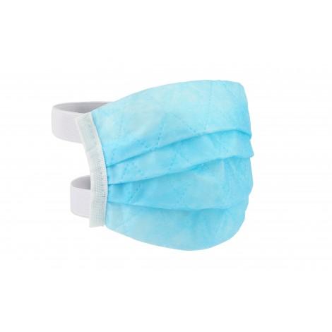 Maseczka wielorazowa niebieska 90 gr - gumki za głowę