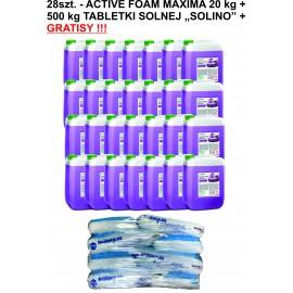 28szt. Active Foam Maxima 20 kg + 500 kg SOLINO + GRATISY!!!